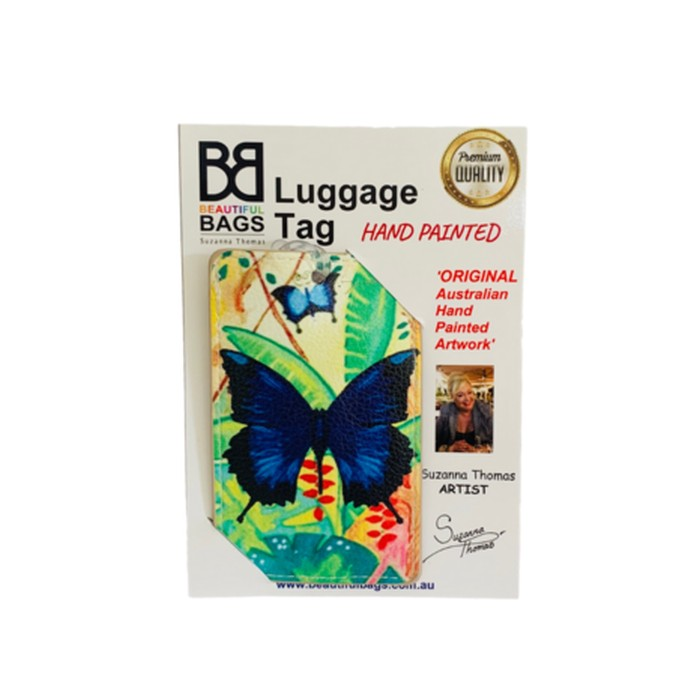 Blue-Butterfly-Luggage-Tag