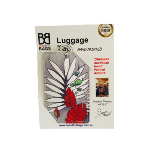 Tropical-Red-Luggage-Tag