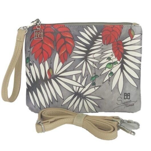 Tropical-Red-Wrist-Cross-Body-Bag